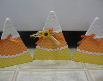 Fall Decor-Candy Corn-Halloween Decor-Halloween Decorations-Halloween Shelf Sitters