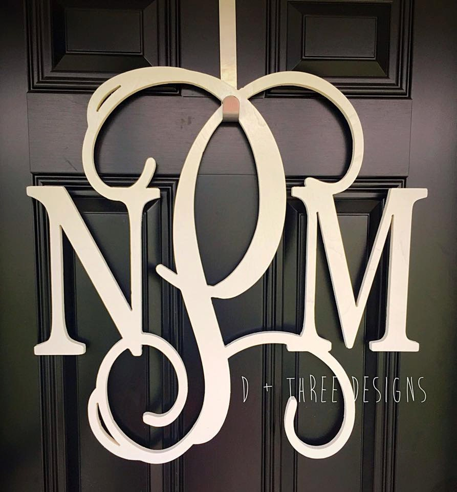 22 inch wooden monogram painted wooden letters monogram for Monogram homes