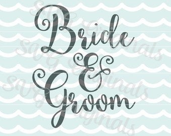 SVG Bride and Groom cutting file art