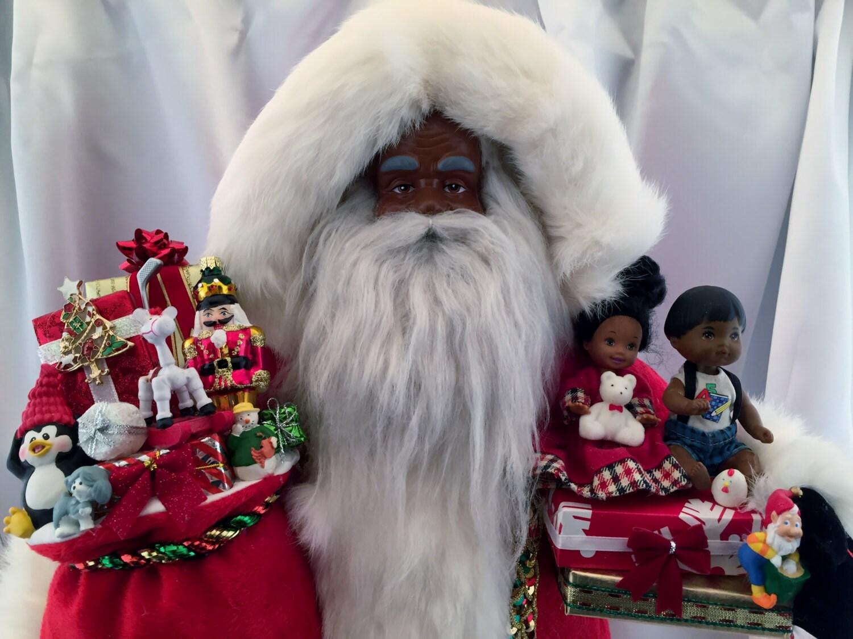 African american santa claus tall