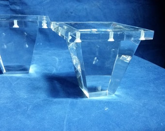 acrylic legs for furniture. clear acrylic lucite ottoman legs for furniture