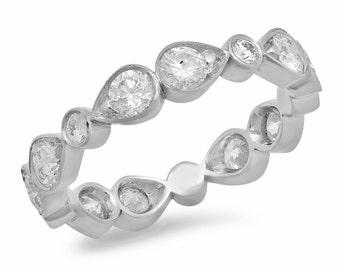 14K White Gold Bow Ring