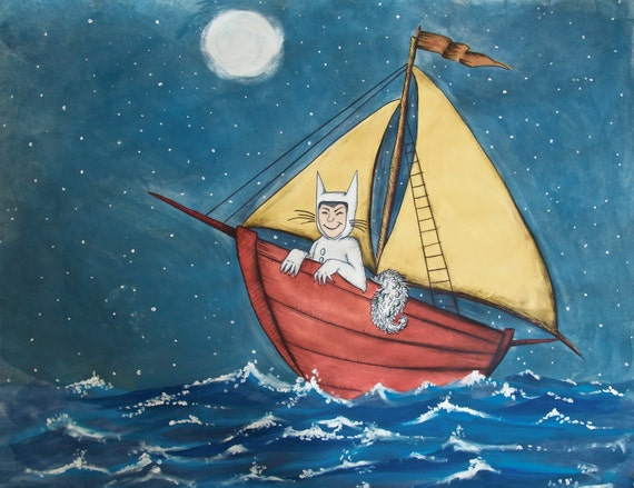WHERE the WILD THINGS Are // Art Print Max on His Boat Ride