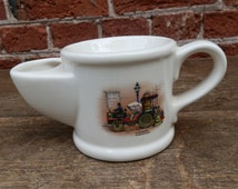 Vintage 1980's Wade Shaving Mug La Mancelle Steam Automobile by Bollee