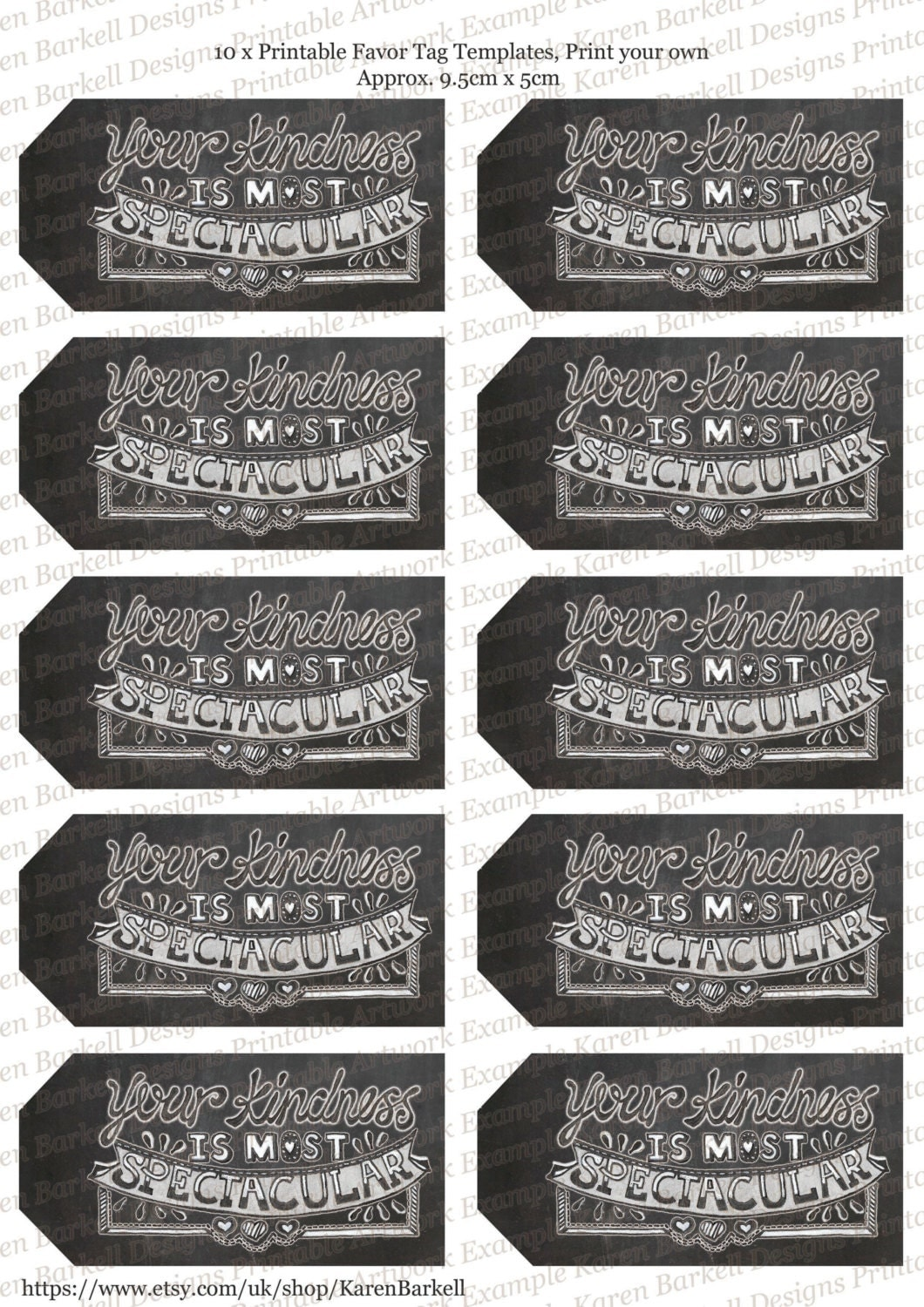Print Your Own Wedding Gift Tags : Chalkboard Wedding Favor Tags print your own