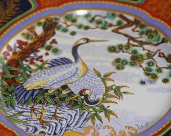 Vintage Oriental had painted large plate