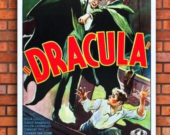 Dracula Movie Canvas Art Print A1 A2 A3 A4