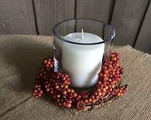 Candle ring for Fall/ candle ring/ candle holder/ fall decor/ autumn decor/ tablescape/ thanksgiving decor/ rustic decor/ fall tablescape
