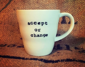 Accept or change WHITE COFFEE CUP