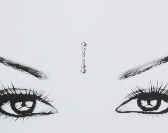 Eye corner bindis, tribal bindi, face jewel, bollywood, oriental, tribal bindi, strass bindi, reusable bindi