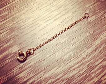 """2"""" Gold Filled cable chain extension"""