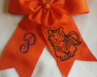 Tiger Hairbow, Embroidered