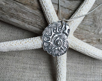 Nautilus Fine Silver Pendant