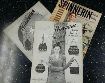 Lot of Three Vintage Knitting Instruction Books