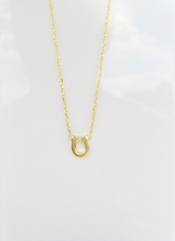 horseshoe necklace gold plated sterling silver, EVERYDAY LOW PRICE