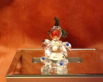Glass clown figurine