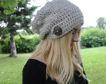 The Margo Slouch/ Crochet/ Handmade/ slouch/ Button/ Summer/ Winter/ Fall