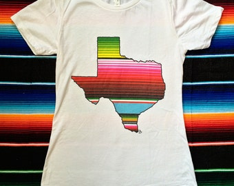 Texas Y All Serape Print Cowboy Boots Graphic Tee By