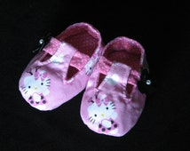 Pink Hello Kitty Mary Jane T-Strap Booties