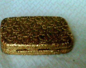 Goldtone Powder Compact With Mirror