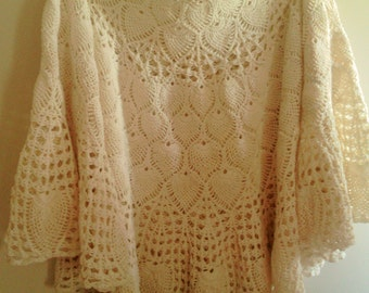 Hand Crocheted Vintage Tablecloth
