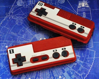Set of NES Controller I and II and  Parody Soap - retro gamer and geeky!