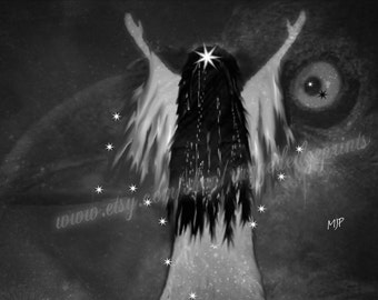 RAVEN SPIRITS, Fine Art Print, Original Art, Prints, Wall Decor, Ravens, Birds, Mystical, Magical, Girl With Raven Hair, Home Decor