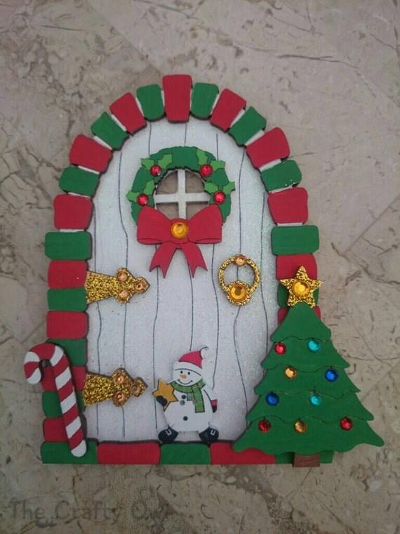 Christmas wooden fairy elf door santas workshop by for Wooden elf door