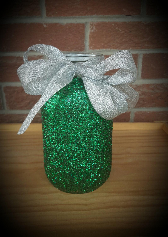 large glitter mason jar custom made jars painted mason jar. Black Bedroom Furniture Sets. Home Design Ideas