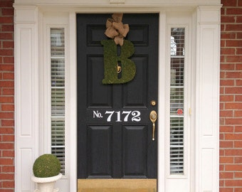 Large Vinyl House Numbers Decal for Front Door--In Black or White