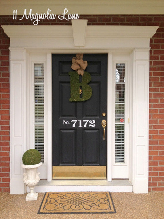 Large Vinyl House Numbers Decal For Front Doorin Black Or