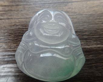 Patron saint of hand-carved ice kind of white jade Buddha pendant pendant