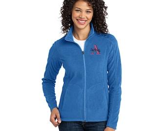Monogrammed Full Zip Micro-Fleece Jacket. XS-4X.  L223