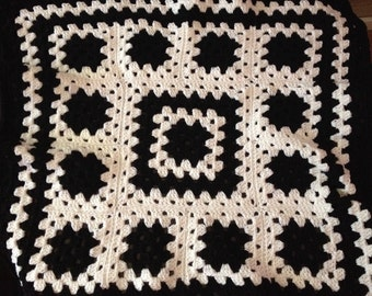 Black and White Crochet Baby Blanket