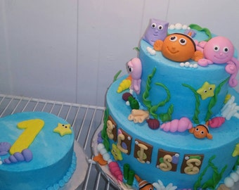 Under The Sea Fondant Cake Topper Set