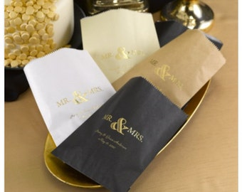 Mr. and Mrs. Wedding Cake Bags (Pack of 50)