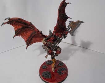 Warhammer 40k Chaos Daemons - Khorne Bloodthirster commission painting