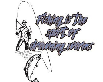Fishing SVG SCAL DXF Cricut Silhouette Graphtec Cutting File