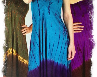 Final Sale!Tango: Batik Tie-Dye skirt/halter midlength dress
