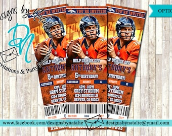 Denver Broncos Invitation