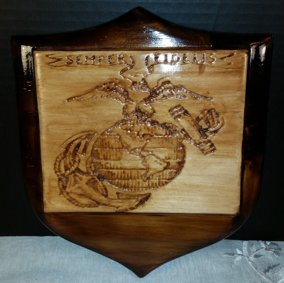 Items similar to marine semper fi usmc wood carving