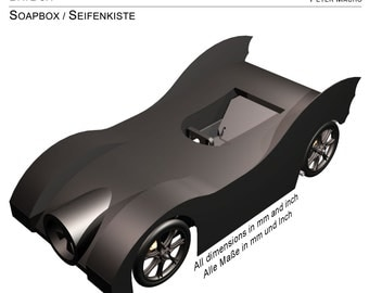 BATBOX  SOAPBOX / SEIFENKISTE - Construction Manual / Bauanleitung - Edition engl./ger. - Batmobile / Batman