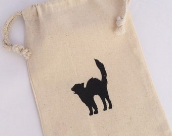 Halloween Party Favor Bag: Black Cat Favor Bags, Black Cat Treat Bag