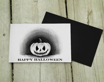 Jack O Lantern Pumpkin Halloween Greeting Card