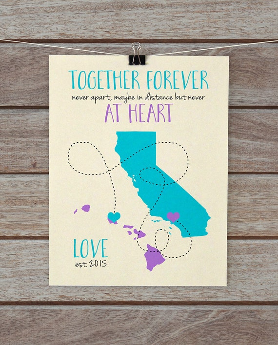 Distance Love Quotes For Girlfriend: Long Distance Relationship Quote Gift For Boyfriend