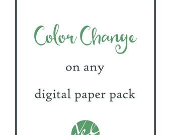 Custom Color Change on Digital Paper Packs