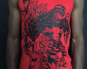 Venom Spider-Man vest. Carnage, Print, Marvel inspired Original design.