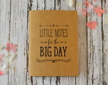 Wedding Journal, Cute Bridal Notebook / Wedding Planner - Little Notes for the Big Day