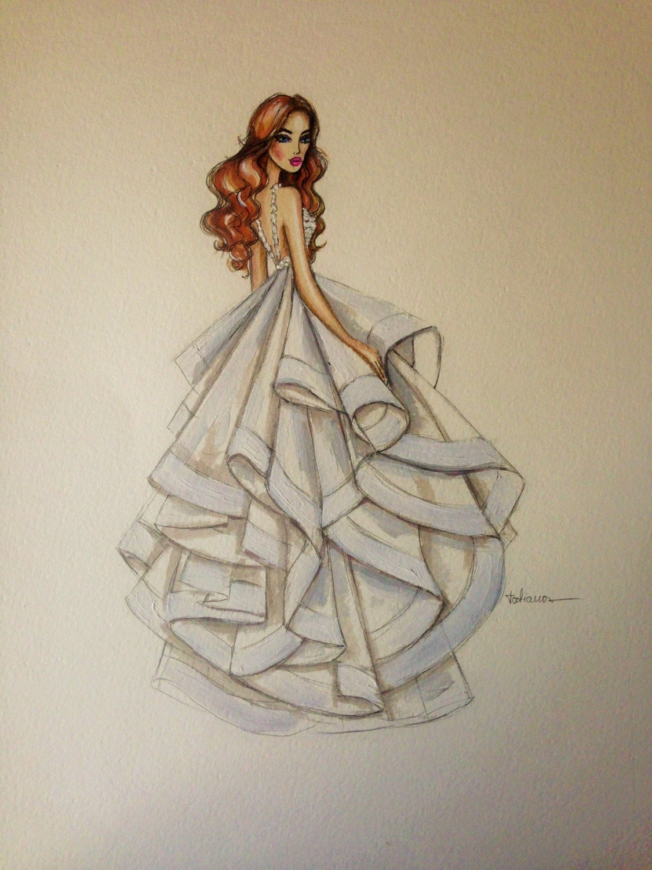 bridal custom fashion illustrationwedding drawing