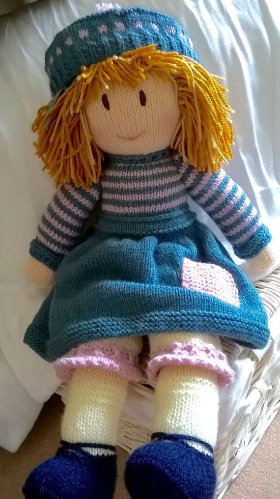 Hand Knitted Toys : Hand knitted doll by dreamdollies on etsy